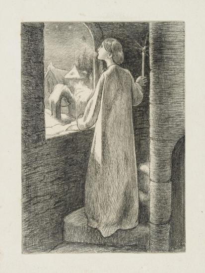 St Agnes Eve-John Everett Millais-Giclee Print