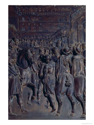 St. Agostino Preaching to the Florentines, Relief from the Salviati Chapel-Giambologna-Giclee Print