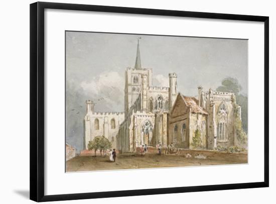 St Albans Cathedral, Hertfordshire, C1830--Framed Giclee Print