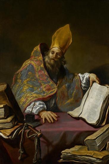 St. Ambrose, C.1623-25-Claude Vignon-Giclee Print