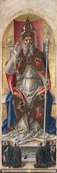 St. Ambrose, from Polyptych with St. Ambrose Blessing-Bartolomeo Vivarini-Art Print