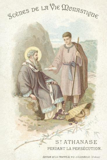 St Anathasius During the Persecution of Christians--Giclee Print
