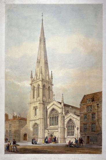 St Andrew's Church, Wells Street, Marylebone, London, C1846-Day & Haghe-Giclee Print