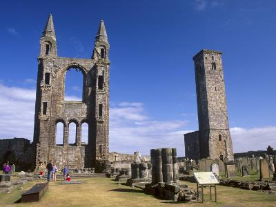 St. Andrews Cathedral Dating from the 14th Century, St. Andrews, Fife, Scotland, UK-Patrick Dieudonne-Photographic Print