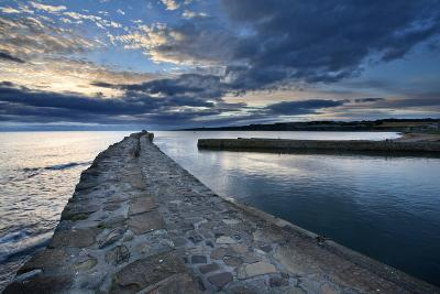 St. Andrews Harbour at Dawn, Fife, Scotland, United Kingdom, Europe-Mark Sunderland-Photographic Print
