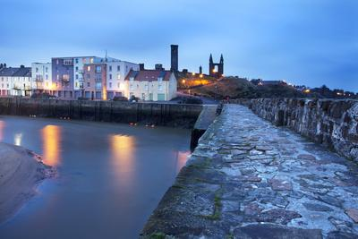 St. Andrews Harbour before Dawn, Fife, Scotland, United Kingdom, Europe-Mark-Photographic Print
