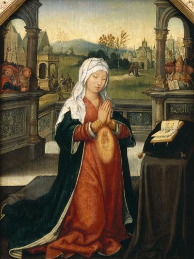 St.Anne Conceiving the Virgin-Jean The Elder Bellegambe-Giclee Print