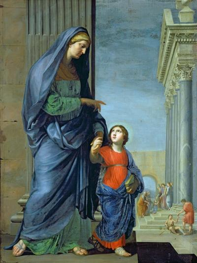St. Anne Leading the Virgin to the Temple, c.1635-45-Jacques Stella-Giclee Print