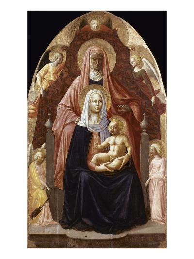 St. Anne, Madonna & Child.-Masaccio-Giclee Print