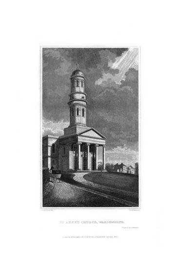 St Anne's Church, Wandsworth, London, 1830-R Winkles-Giclee Print