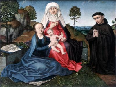 St Anne, the Virgin and Child and a Donor-Hans Memling-Giclee Print