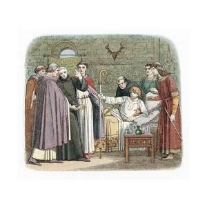 St Anselm Reluctantly Accepting the Archbishopric of Canterbury, 1093