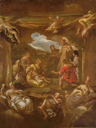 St. Anthony of Padua Healing a Young Man-Luca Giordano-Giclee Print