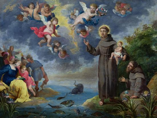 St. Anthony of Padua Preaching to the Fish-Victor Wolfvoet-Giclee Print