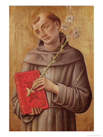 St. Anthony of Padua-Bartolomeo Vivarini-Giclee Print