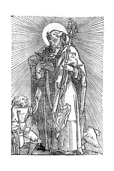 St Anthony the Great, Egyptian Aesthetic--Giclee Print