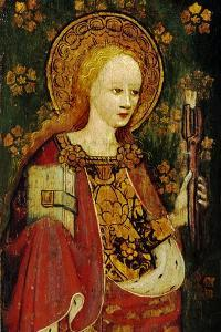 St. Apollonia, Holding a Pair of Pincers and a Tooth, Detail of the Rood Screen, St. Michael's…