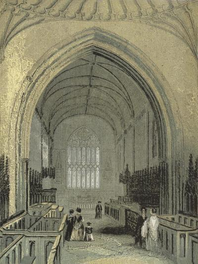 St Asaph's Cathedral, the Choir--Giclee Print