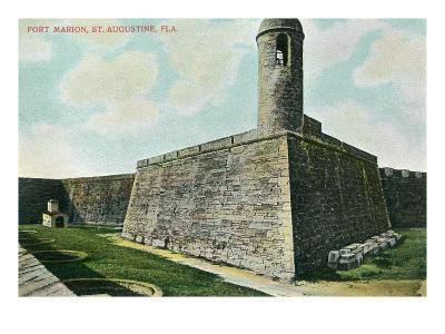 St. Augustine, Florida - Fort Marion Scene-Lantern Press-Art Print