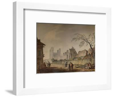 'St. Augustine's Gate, Canterbury', 18th century, (1935)-Samuel Hieronymus Grimm-Framed Giclee Print