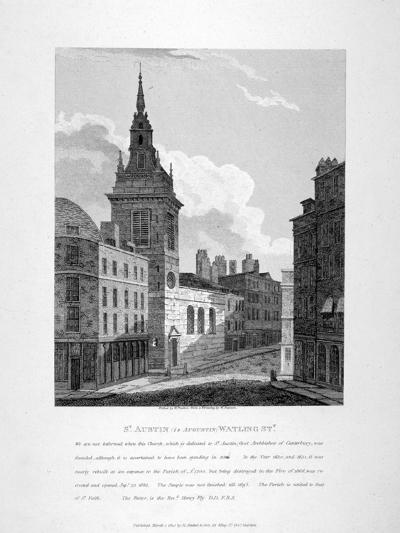 St Augustine, Watling Street, City of London, 1810-W Preston-Giclee Print