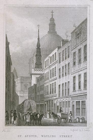 St Augustine, Watling Street, London, C1830-S Lacey-Giclee Print