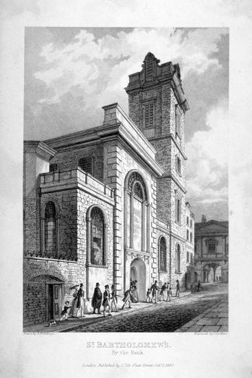 St Bartholomew-By-The-Exchange, City of London, 1837-John Le Keux-Giclee Print