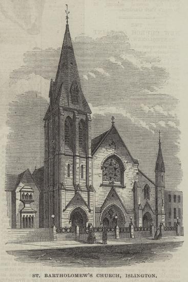 St Bartholomew's Church, Islington--Giclee Print