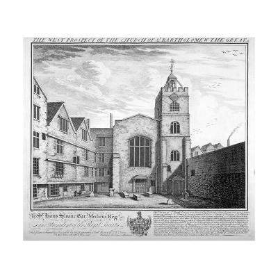 St Bartholomew-The-Great, City of London, 1737-William Henry Toms-Giclee Print