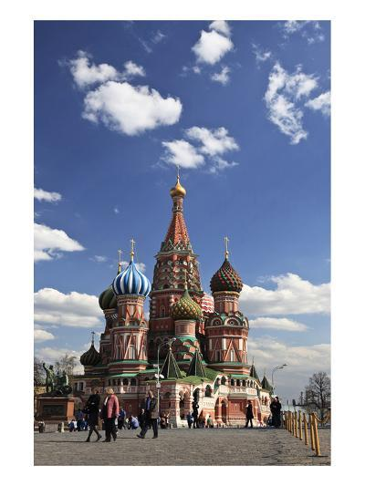 St. Basil's Cathedral on the Red Square, Moscow, Russia--Art Print