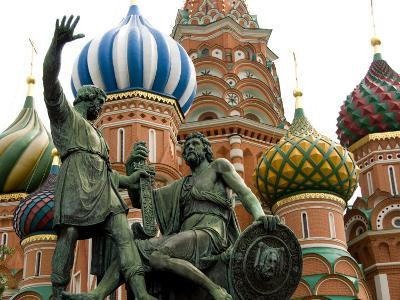 St. Basil's Cathedral, Red Square, Moscow, Russia-Cindy Miller Hopkins-Photographic Print