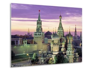 St. Basil's Cathedral, Red Square, Moscow, Russia-Jon Arnold-Metal Print
