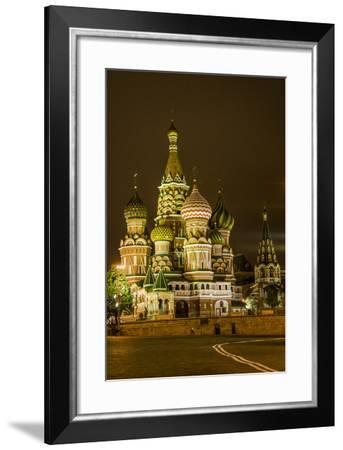 St. Basil's Cathedral. Red Square. UNESCO World Heritage Site. Moscow. Russia-Tom Norring-Framed Photographic Print