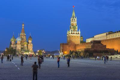 St. Basils Cathedral and the Kremlin in Red Square, Moscow, Russia-Gavin Hellier-Photographic Print