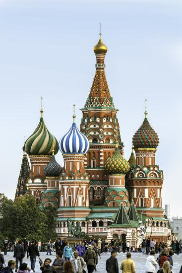 St. Basils Cathedral in Red Square, Moscow, Russia-Gavin Hellier-Photographic Print