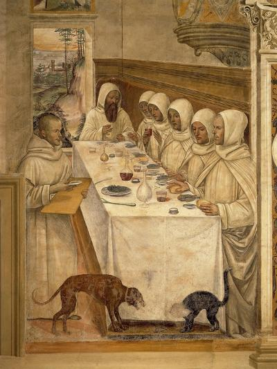 St. Benedict Finds Flour and Feeds the Monks, from the Life of St. Benedict, 1497-98--Giclee Print