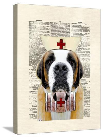 St Bernard Nurse-Matt Dinniman-Stretched Canvas Print