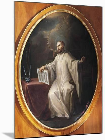 St Bernard of Clairvaux-Miguel Cabrera-Mounted Giclee Print