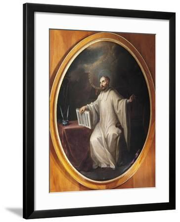 St Bernard of Clairvaux-Miguel Cabrera-Framed Giclee Print