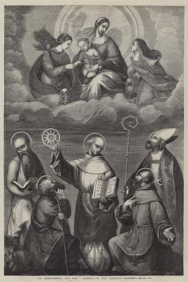 St Bernardino, and Other Saints--Giclee Print