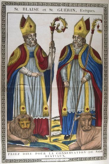 St Blaise and St Guerin, 19th Century--Giclee Print