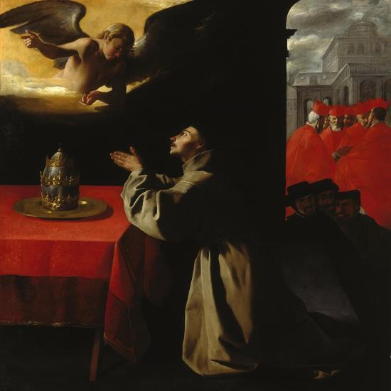 St, Bonaventura Praying, 1629-Francisco Zurbaran y Salazar-Giclee Print