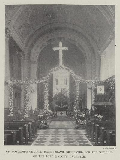 St Botolph's Church, Bishopsgate, Decorated for the Wedding of the Lord Mayor's Daughter--Giclee Print