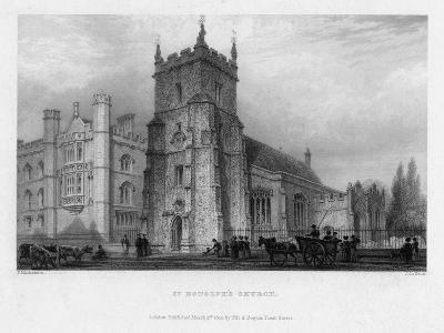 St Botolph's Church, Boston, Lincolnshire, 1842-John Le Keux-Giclee Print