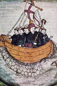 St Brendan on Whale