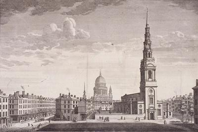 St Bride, London, 1753-James B Allen-Giclee Print