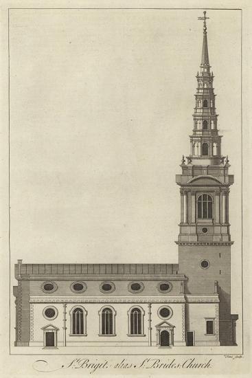 St Bride's Church, London--Giclee Print