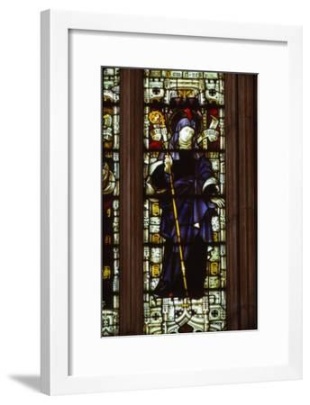 St. Brigid in West Window of Hereford Cathedral, 20th century-CM Dixon-Framed Giclee Print