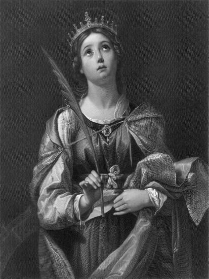 St Catherine, 19th Century-F Knolle-Giclee Print