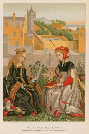 St. Catherine and St. Agnes--Giclee Print